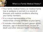 what is a family medical history
