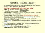 genetika z kladn pojmy67