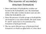 the reasons of secondary structure formation