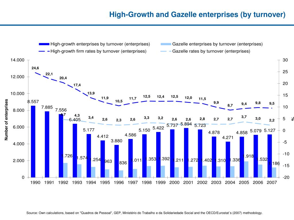 High-Growth and Gazelle enterprises (by turnover)