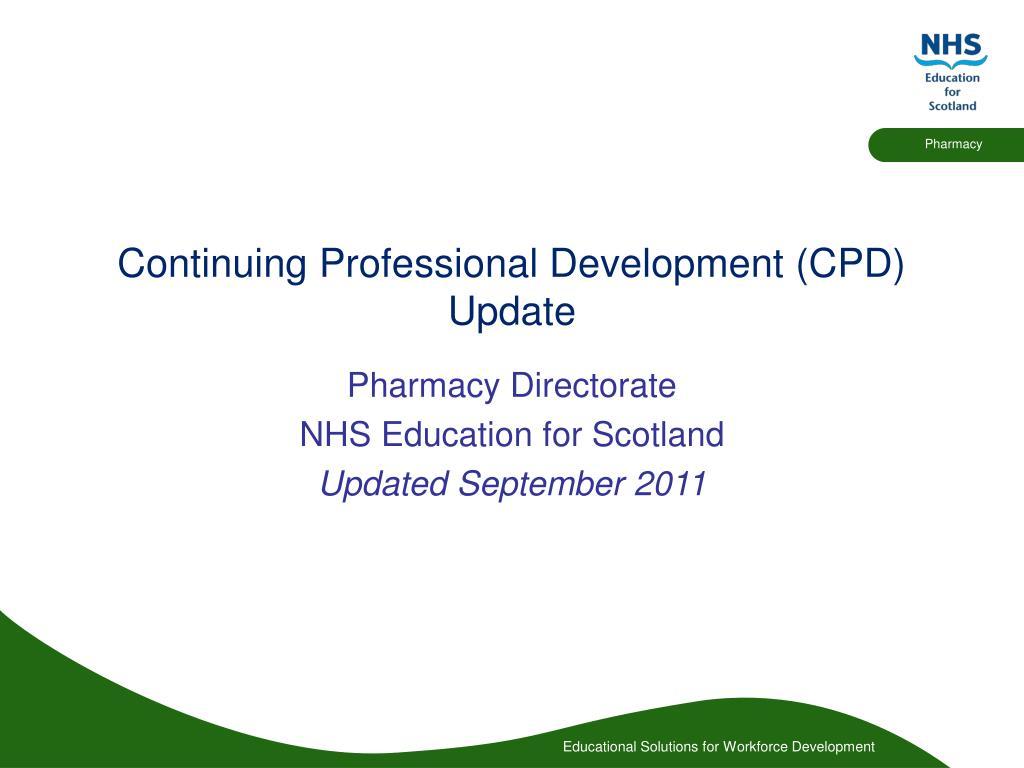 continuing professional development cpd update l.