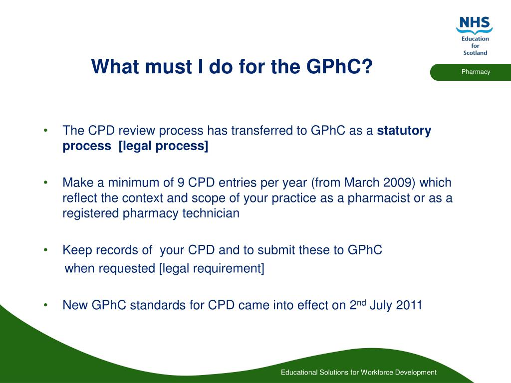 What must I do for the GPhC?