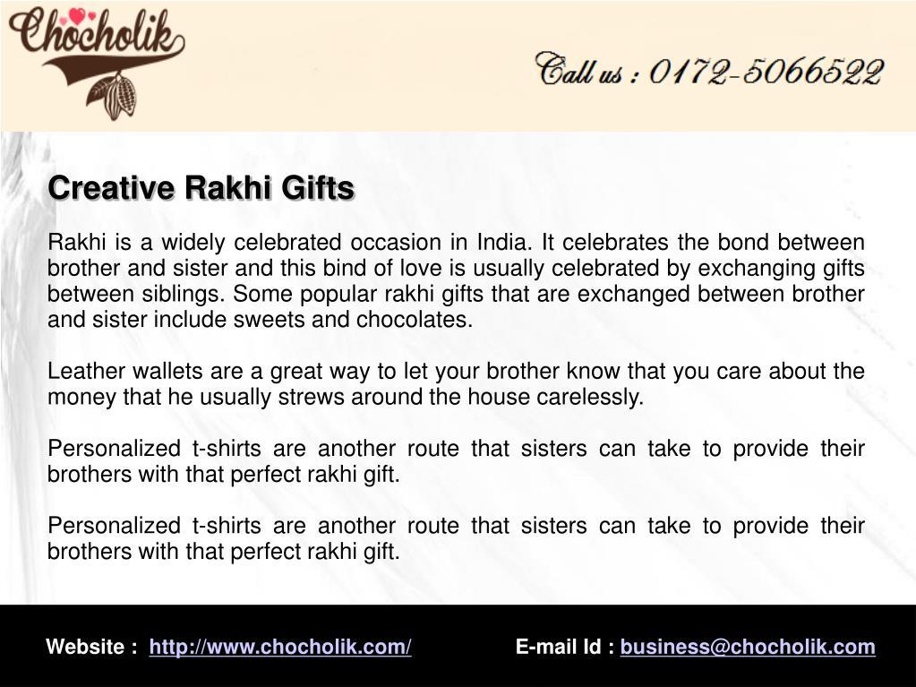 Creative Rakhi Gifts