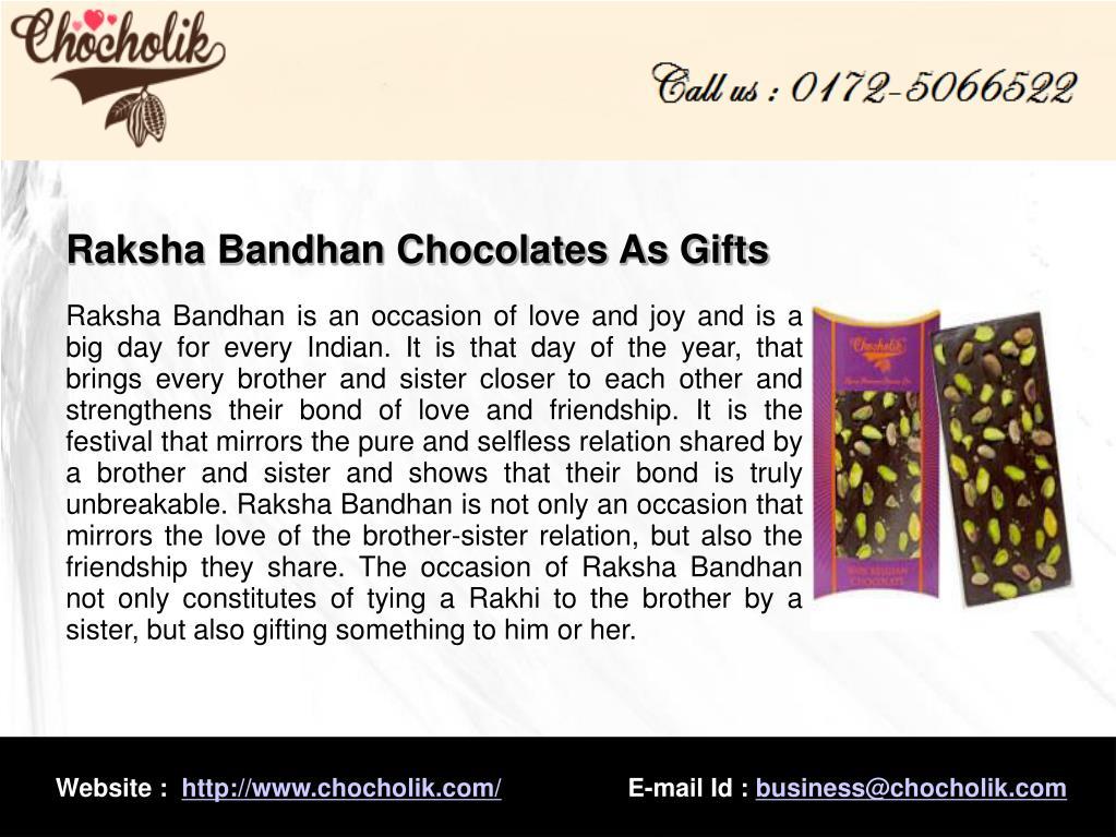Raksha Bandhan Chocolates As Gifts