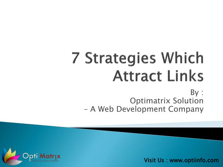 7 strategies which attract links