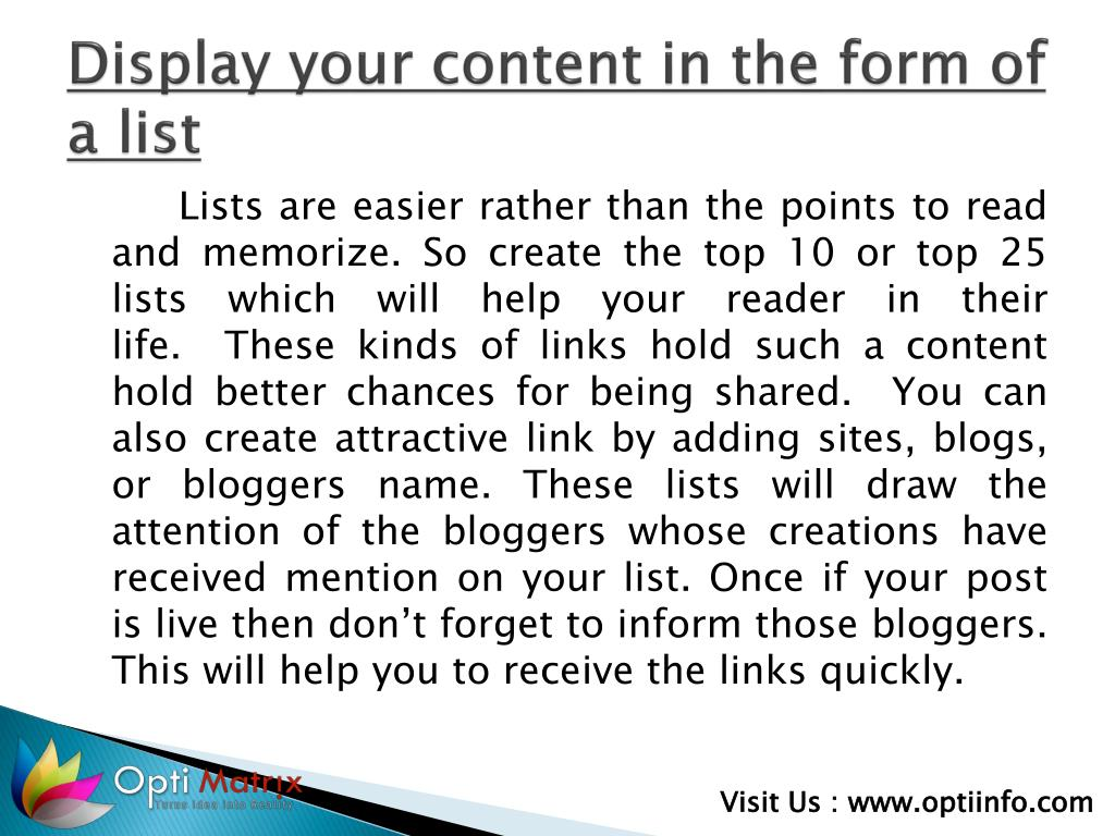 Display your content