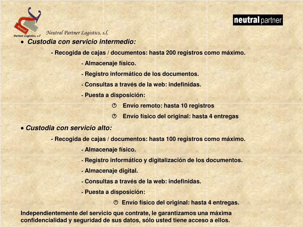 Neutral Partner Logistics, s.l.