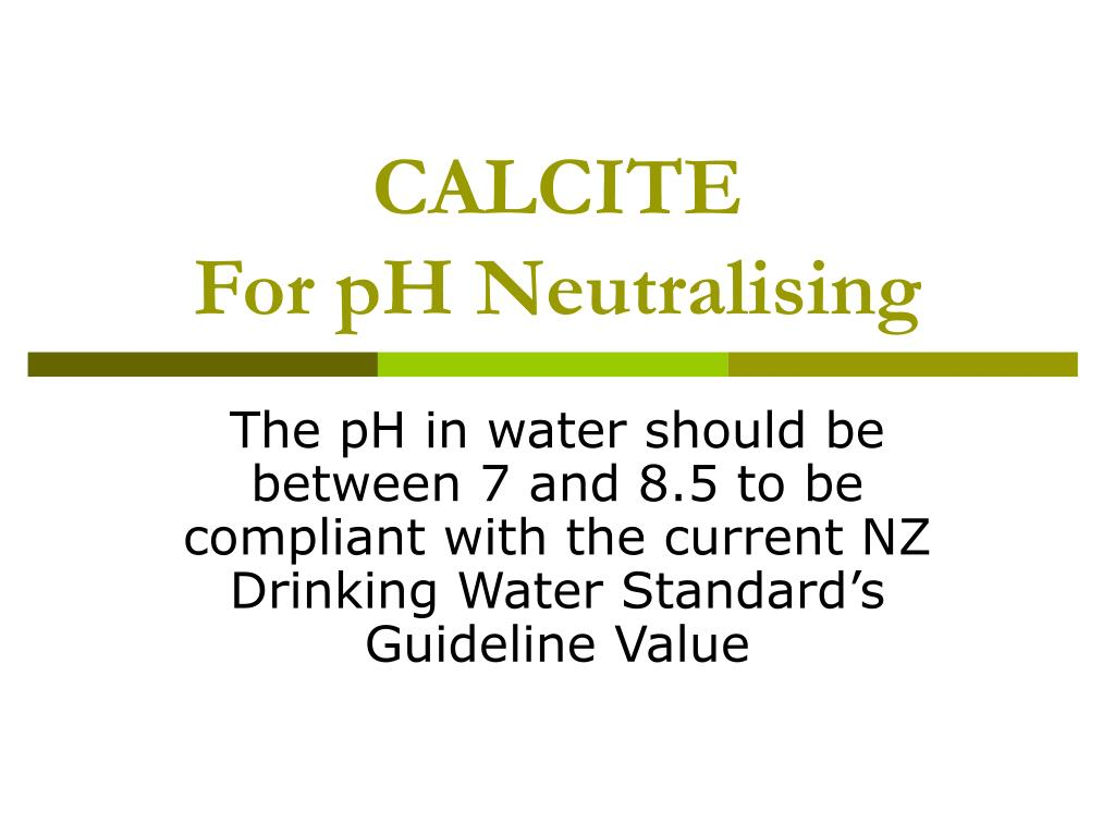 calcite for ph neutralising l.