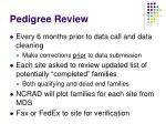 pedigree review