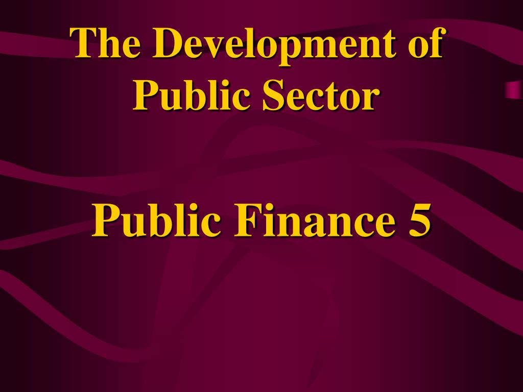 the development of public sector l.