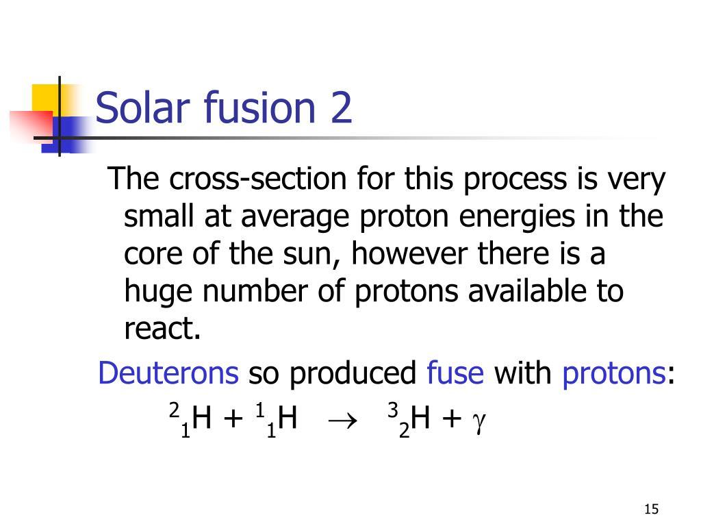 Solar fusion 2