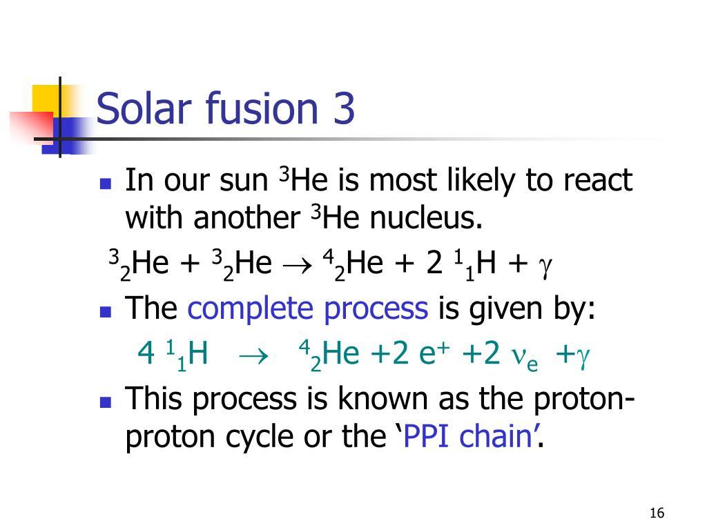 Solar fusion 3