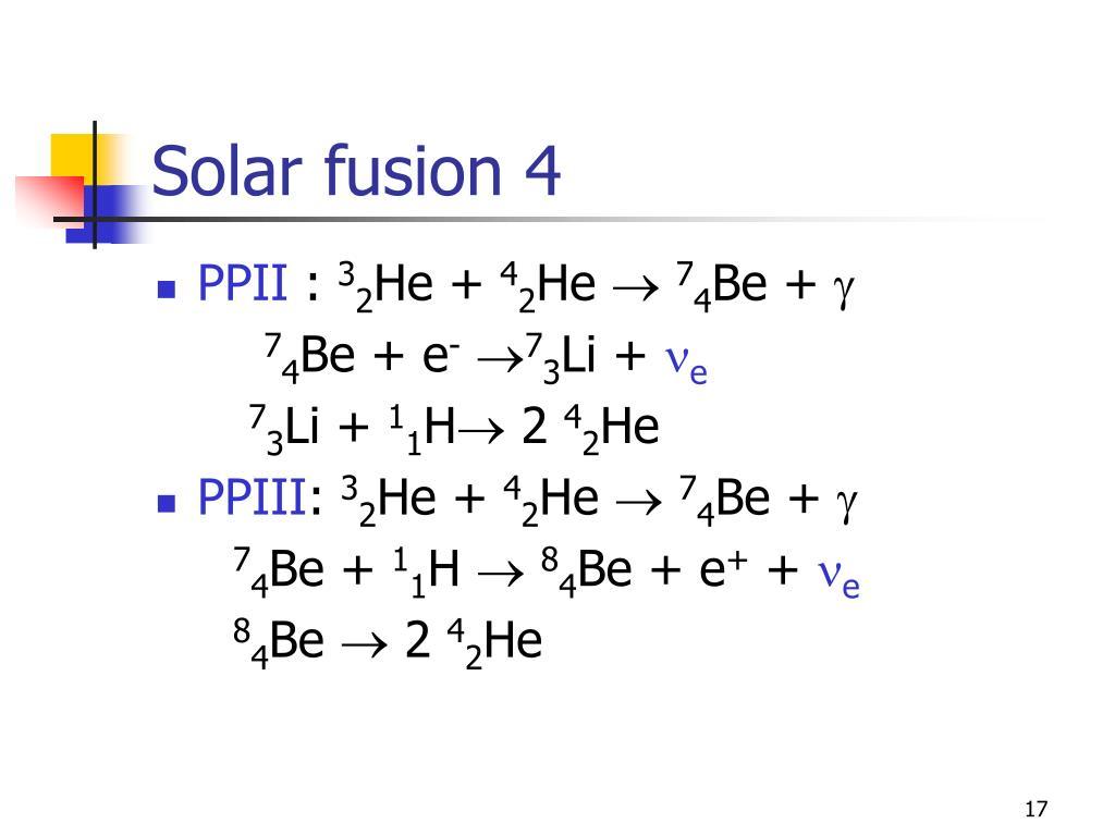 Solar fusion 4