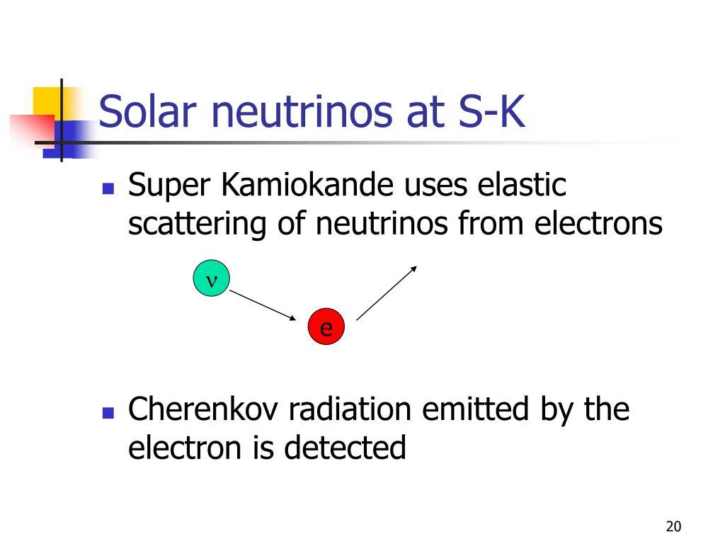 Solar neutrinos at S-K