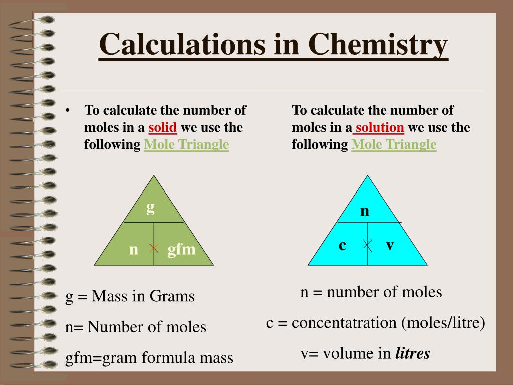 calculations in chemistry l.