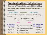 neutralisation calculations