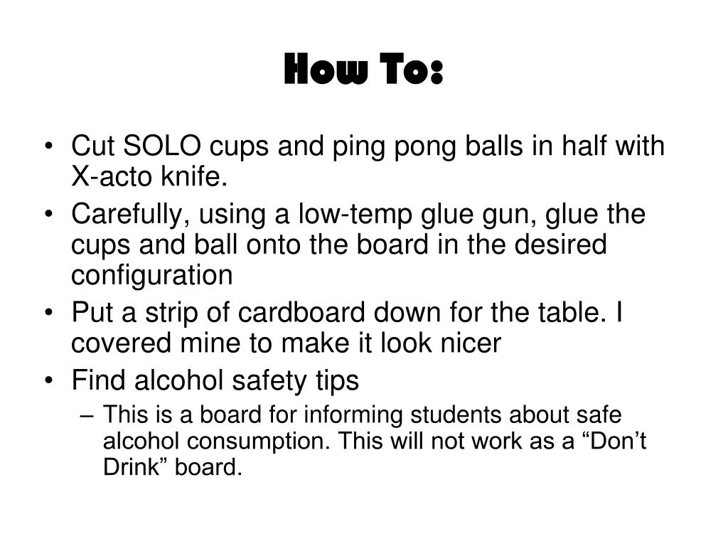 How To: