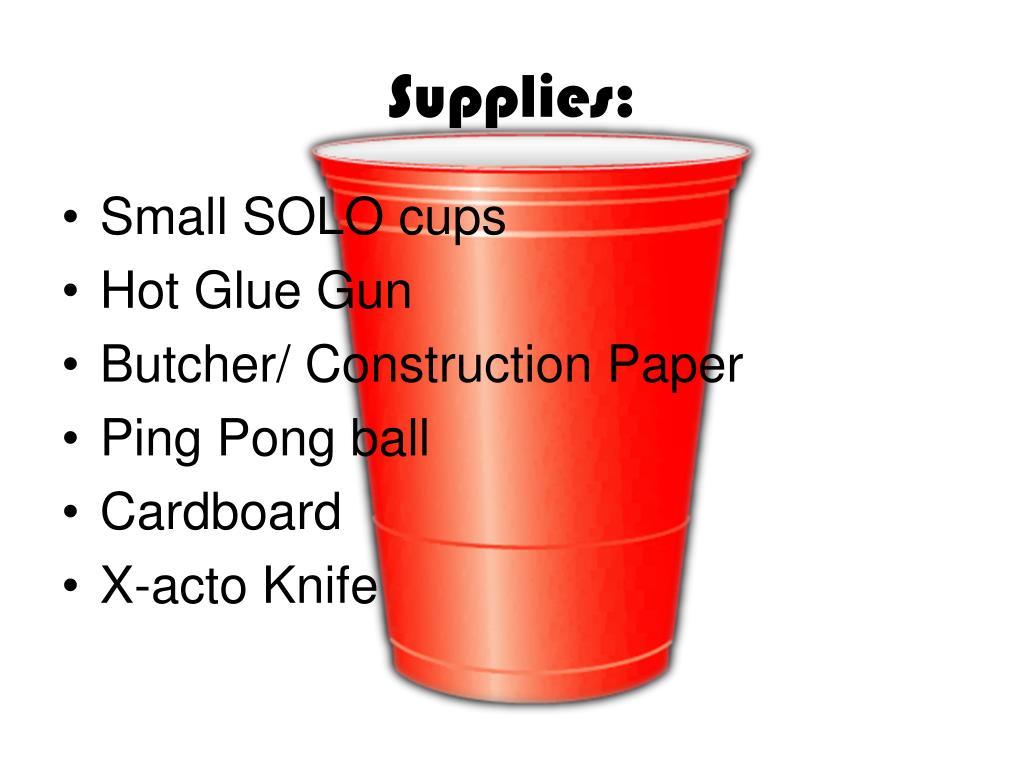Supplies: