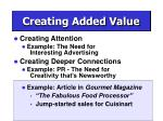 creating added value8