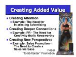 creating added value9