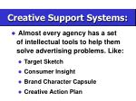 creative support systems