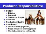 producer responsibilities