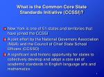 what is the common core state standards initiative ccssi