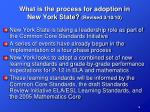 what is the process for adoption in new york state revised 3 10 10