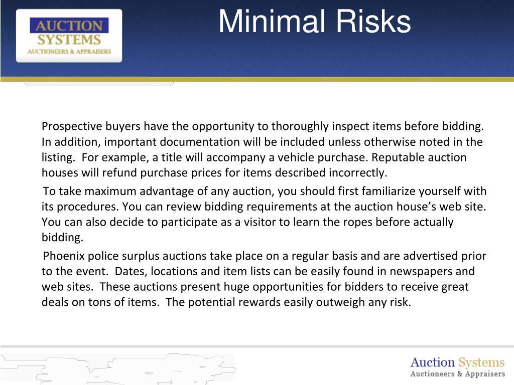 Minimal Risks