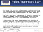 police auctions are easy