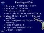 physiological data