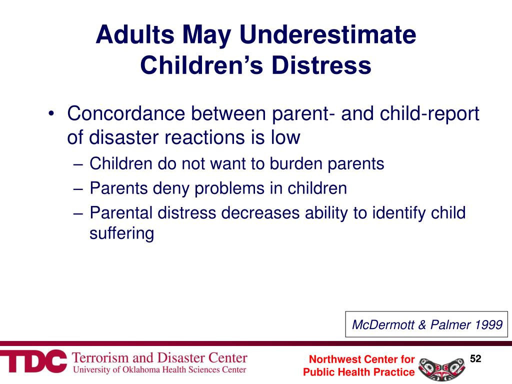 Adults May Underestimate Children's Distress