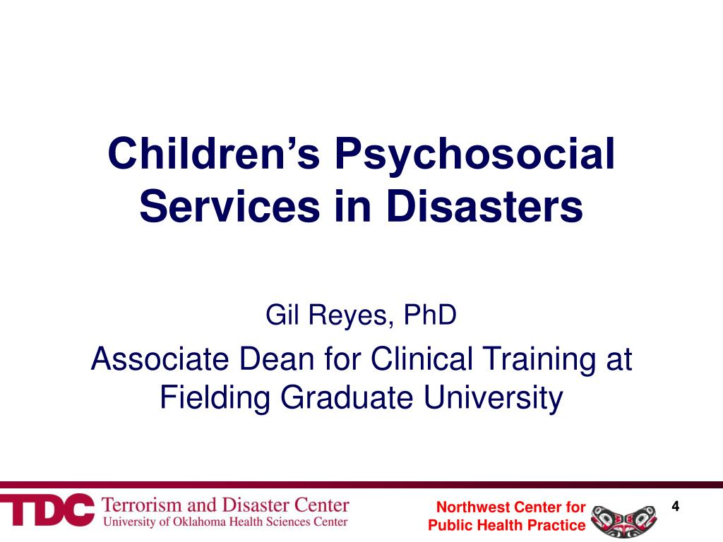 Children's Psychosocial Services in Disasters