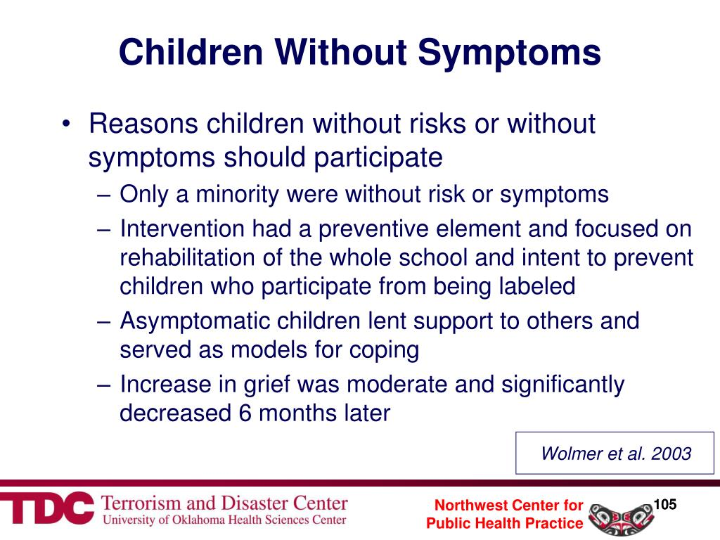 Children Without Symptoms