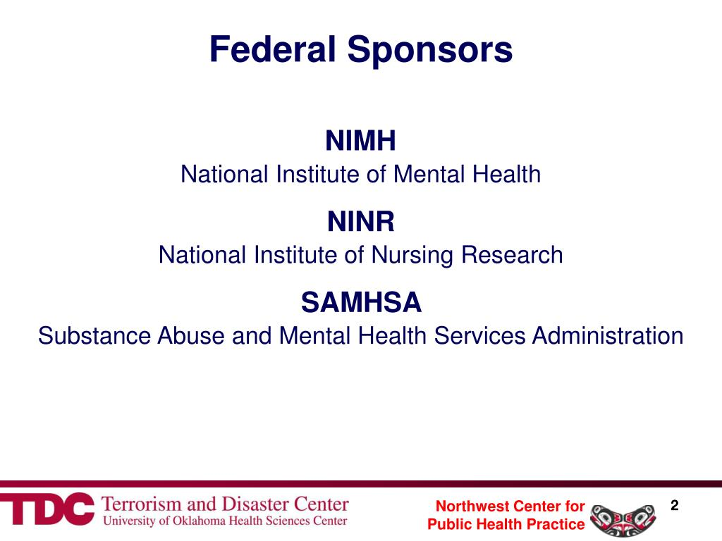 Federal Sponsors