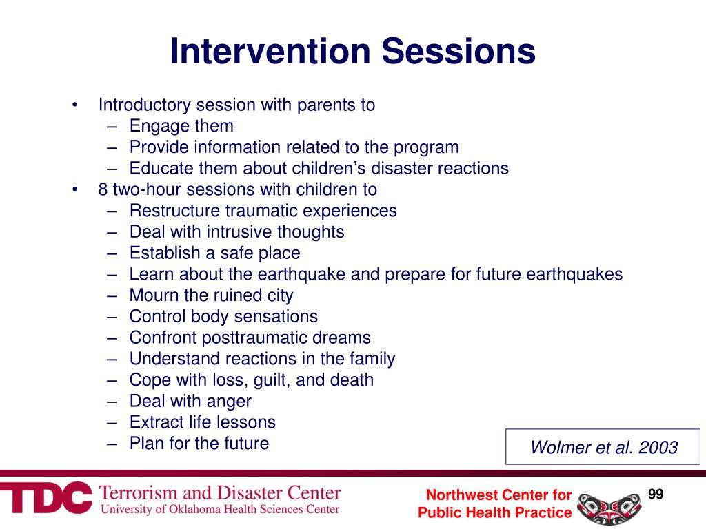 Intervention Sessions