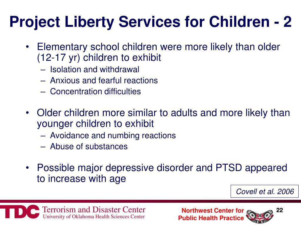 Project Liberty Services for Children - 2