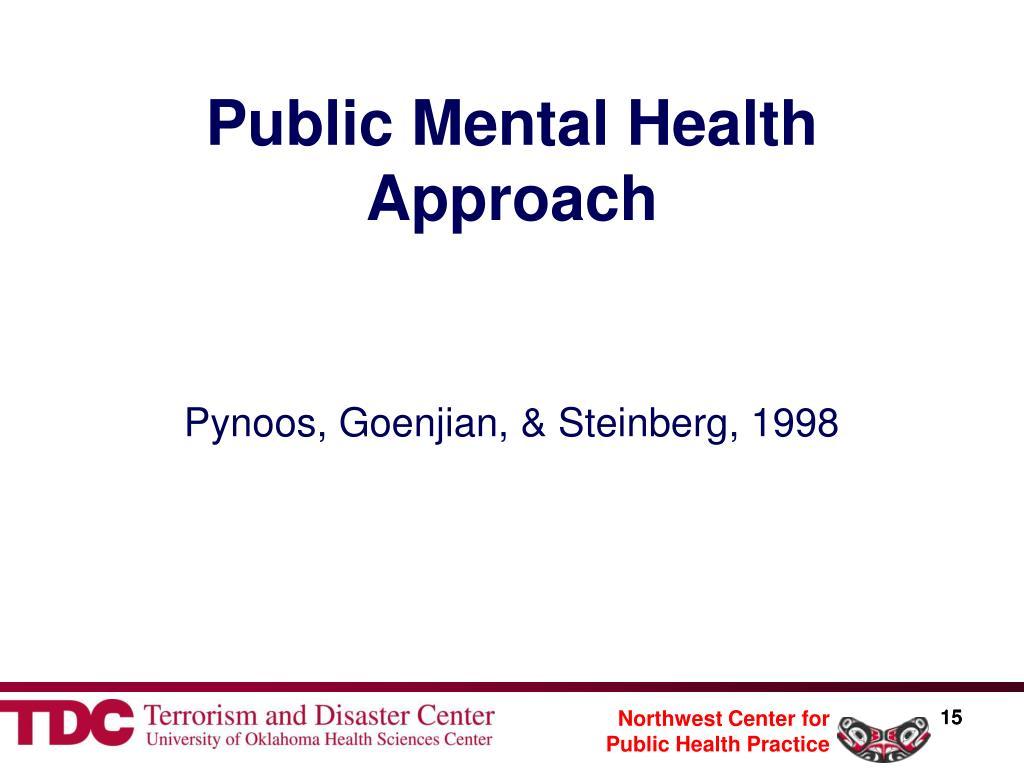 Public Mental Health Approach