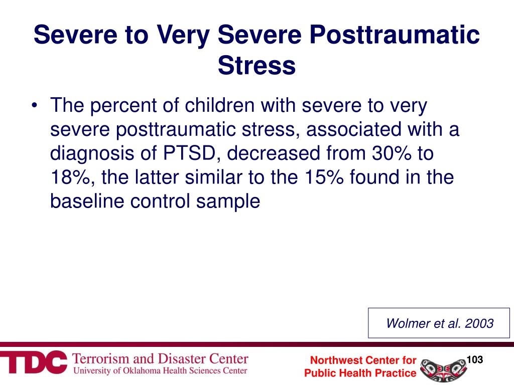 Severe to Very Severe Posttraumatic Stress