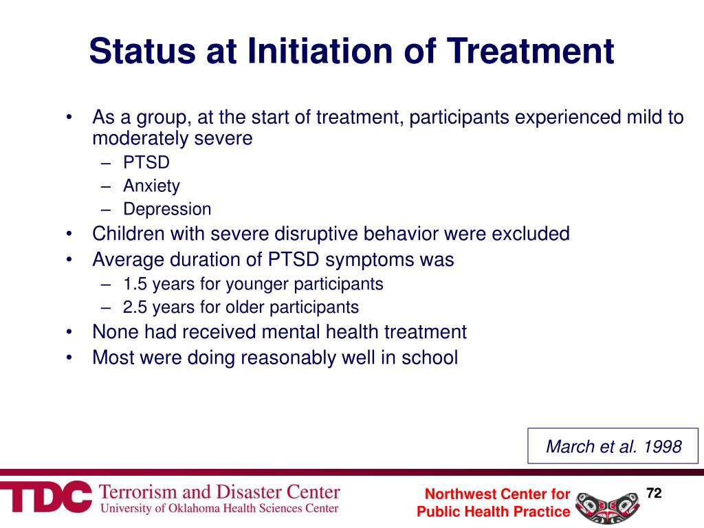 Status at Initiation of Treatment