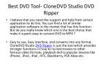 best dvd tool clonedvd studio dvd ripper