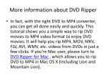 more information about dvd ripper