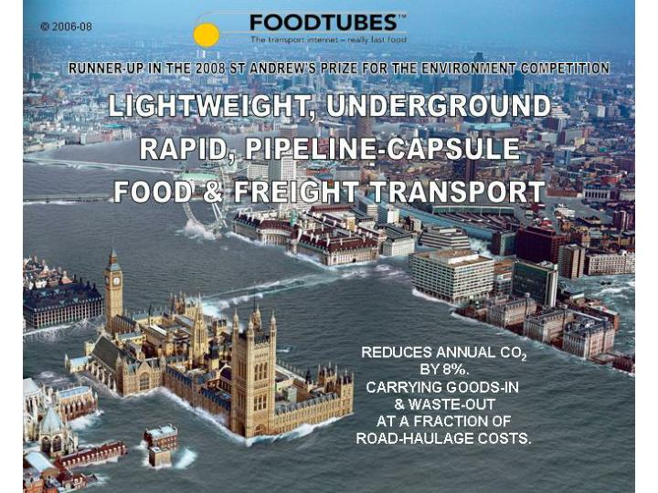 Foodtubes the transport internet really fast food 1323580