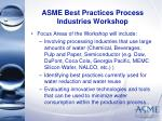 asme best practices process industries workshop19