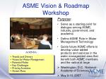 asme vision roadmap workshop