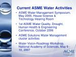 current asme water activities