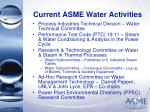current asme water activities7