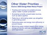 other water priorities source doe energy water nexus project