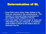 determination of dl