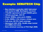 example sematech chip